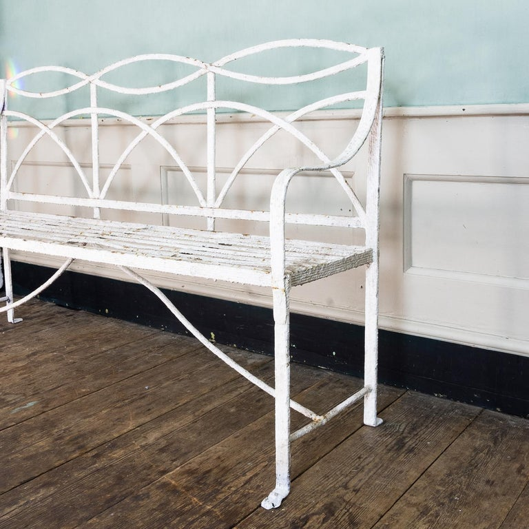 English Regency Period Wrought Iron Bench For Sale 3