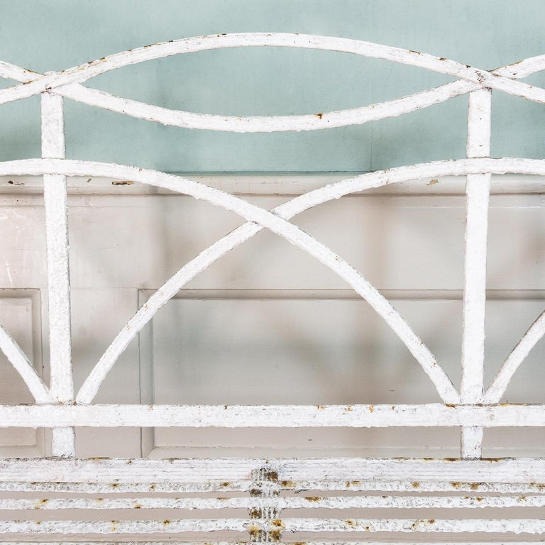 English Regency Period Wrought Iron Bench For Sale 4