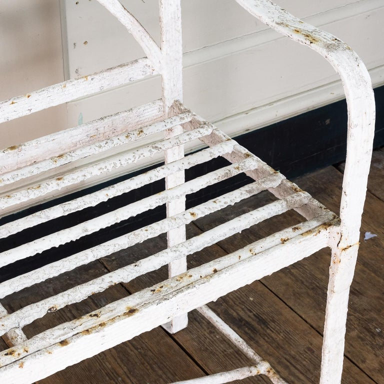 English Regency Period Wrought Iron Bench For Sale 5