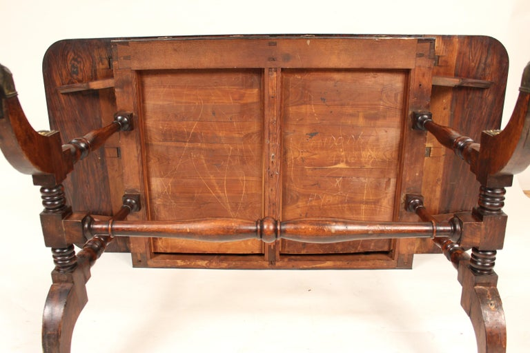 English Regency Rose Wood Sofa Table For Sale 5