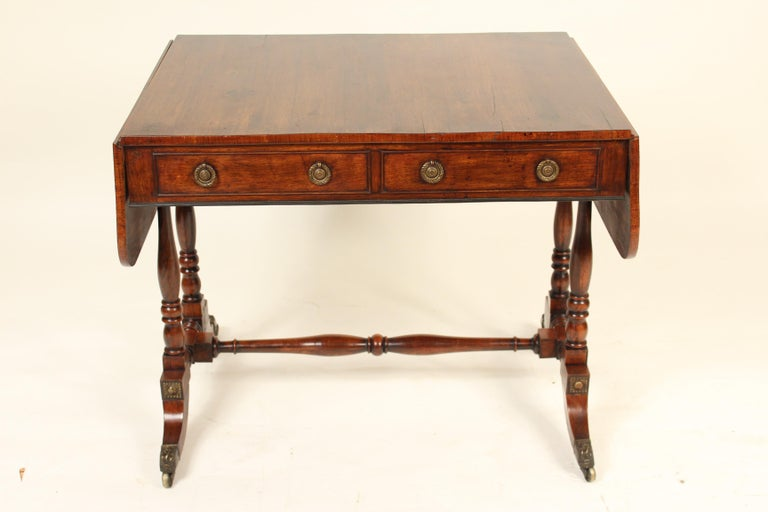 Rosewood English Regency Rose Wood Sofa Table For Sale