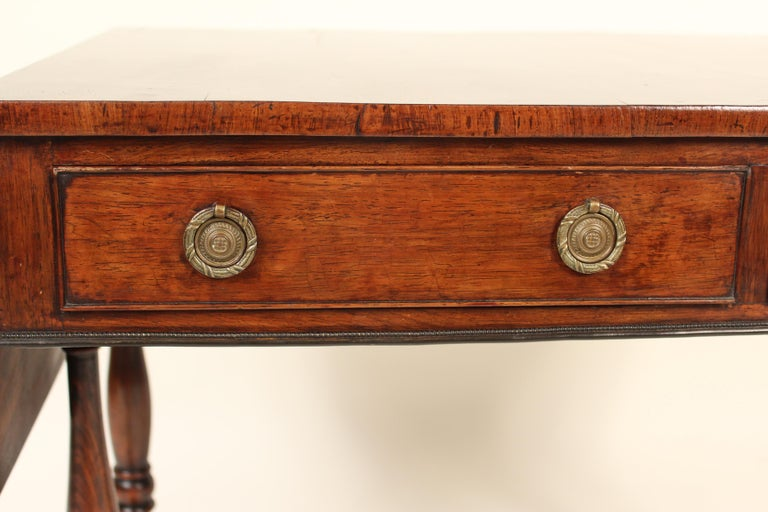 English Regency Rose Wood Sofa Table For Sale 3