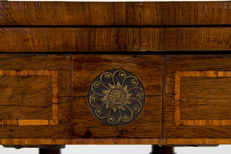 English Regency Rosewood Antique Games Card Table, circa 1815 For Sale 3