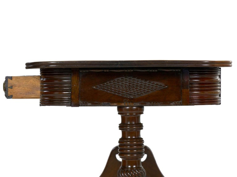 English Regency Rosewood Antique Writing Table Desk Console, circa 1820 7