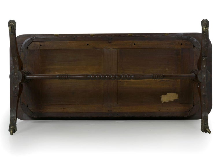 English Regency Rosewood Antique Writing Table Desk Console, circa 1820 15