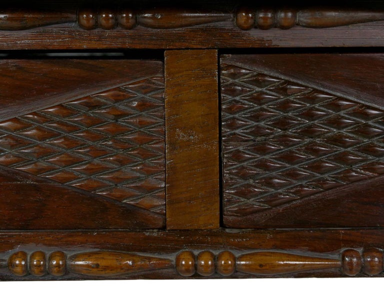 English Regency Rosewood Antique Writing Table Desk Console, circa 1820 4