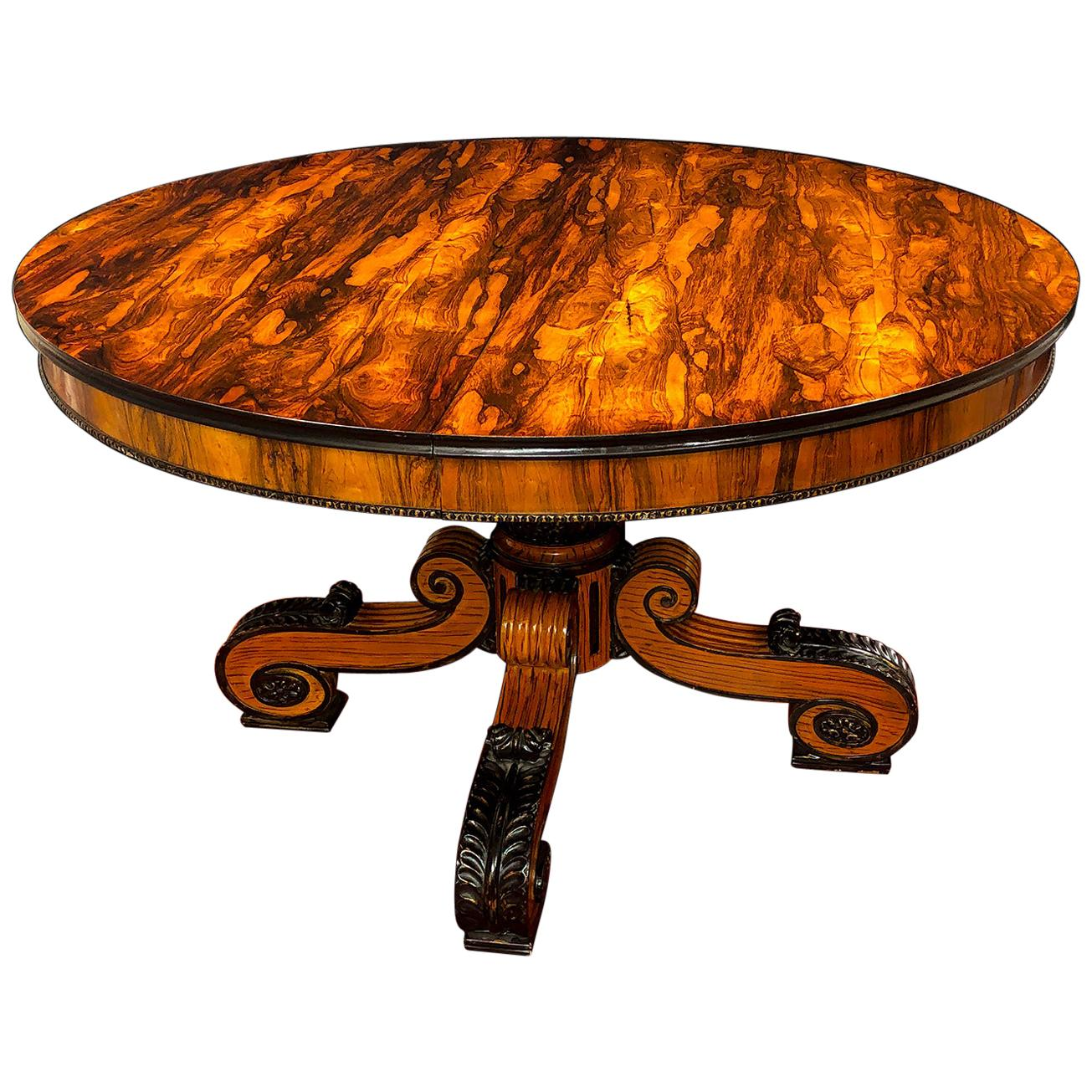 English Regency Rosewood Dining Table