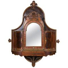 English Regency Rosewood Hanging  Shaving  Mirror