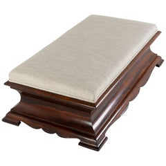 English Regency Rosewood Ottoman