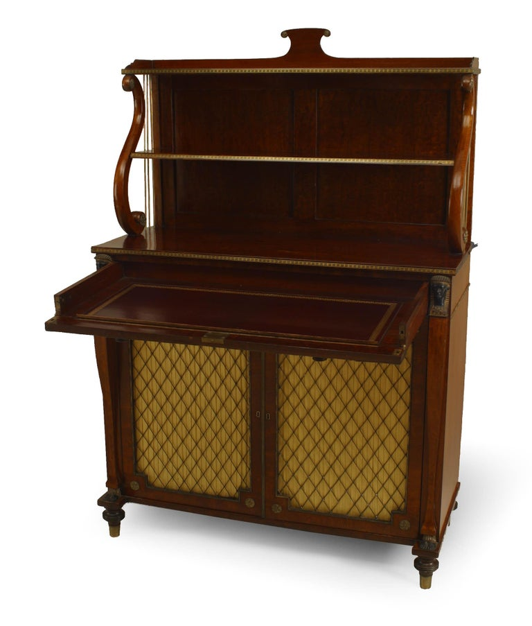 English Regency Rosewood Secretaire In Good Condition For Sale In New York, NY