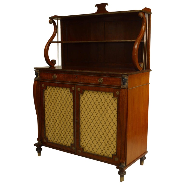 English Regency Rosewood Secretaire For Sale