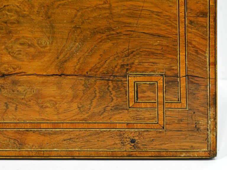 English Regency Satinwood and Mahogany Table Box with Fitted Interior Circa 1820 For Sale 1