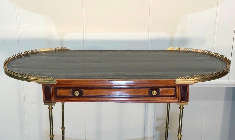 Signed Adam Weisweiler Neoclassical Table With Faux Bamboo Columns, 18th Century For Sale 3