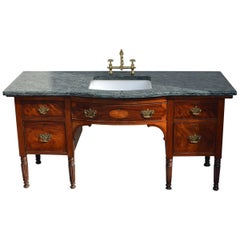 English Regency Sideboard in Mahogany from the 1830s, Converted to a Washstand