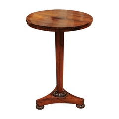 English Regency Small Rosewood Gueridon Side Table, Early 19th century