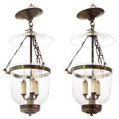 English Regency Style Bell Jar Lanterns