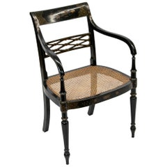 English Regency Style Chinoiserie Armchair