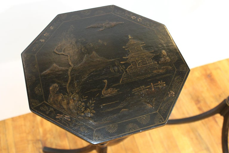 English Regency Style Chinoiserie Side Tables For Sale 1