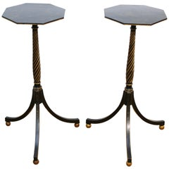English Regency Style Chinoiserie Side Tables