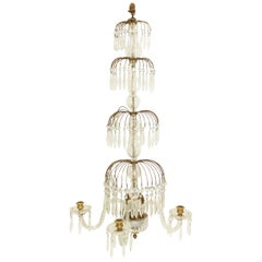 English Regency Style Crystal Wall Sconce