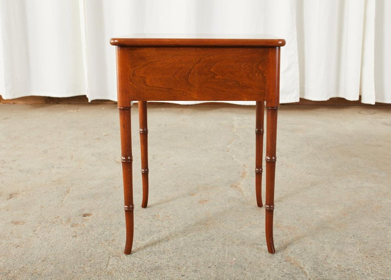 English Regency Style Faux Bamboo Mahogany Drinks Table For Sale 6