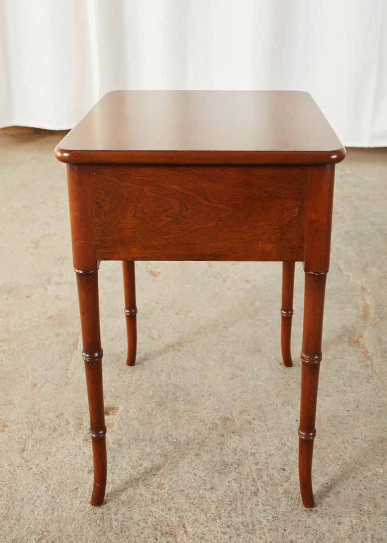 English Regency Style Faux Bamboo Mahogany Drinks Table For Sale 1