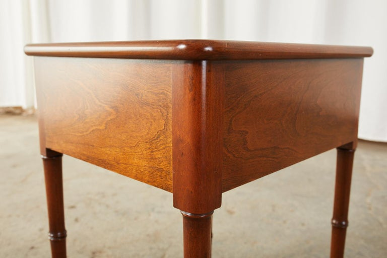 English Regency Style Faux Bamboo Mahogany Drinks Table For Sale 3
