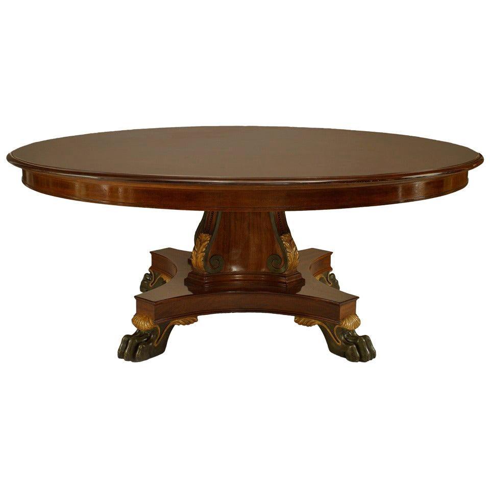English Regency Mahogany Dining Table