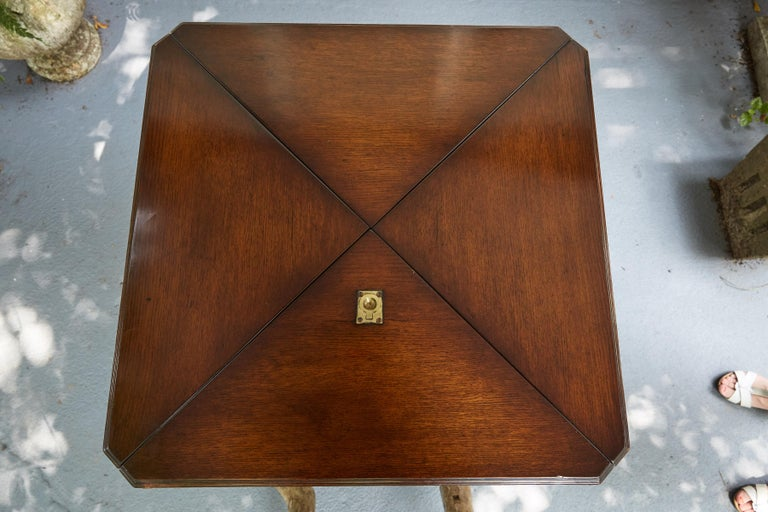 English Regency Style Handkerchief Game Table For Sale 1