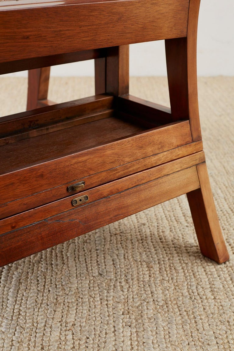 English Regency Style Mahogany Metamorphic Library Step Chair For Sale 4