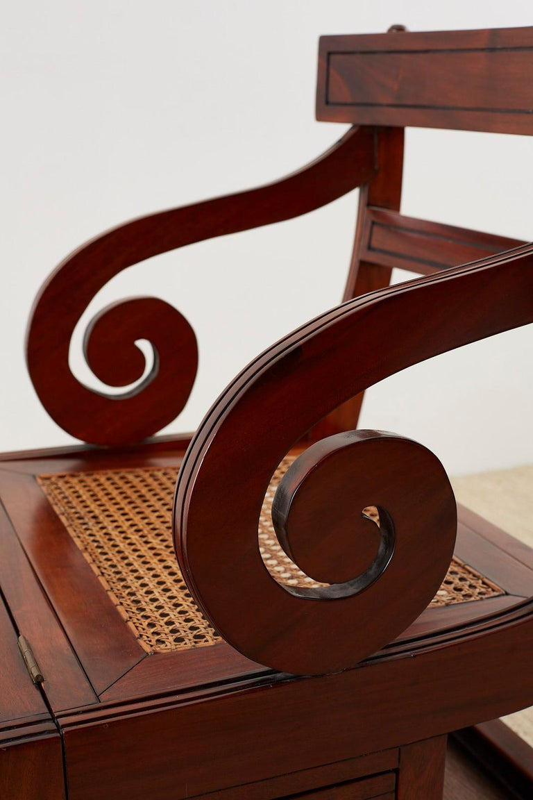 English Regency Style Mahogany Metamorphic Library Step Chair For Sale 6