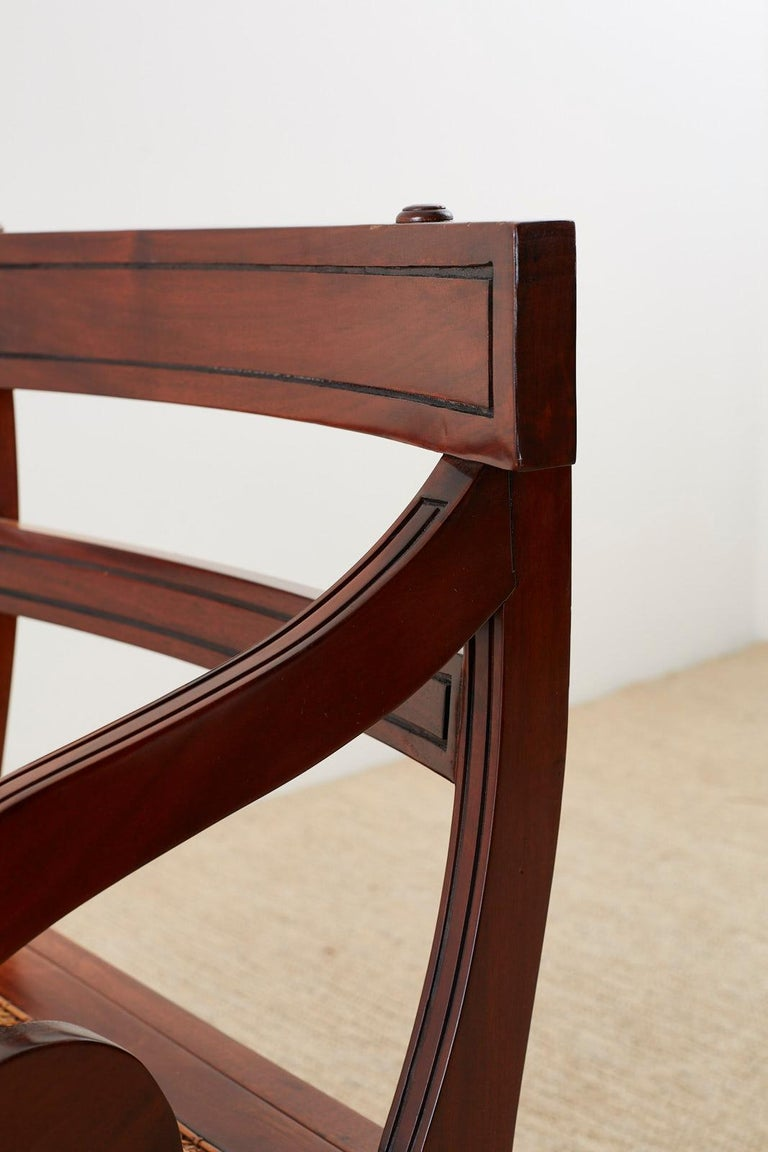 English Regency Style Mahogany Metamorphic Library Step Chair For Sale 8