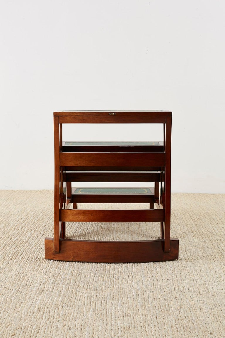 English Regency Style Mahogany Metamorphic Library Step Chair For Sale 11