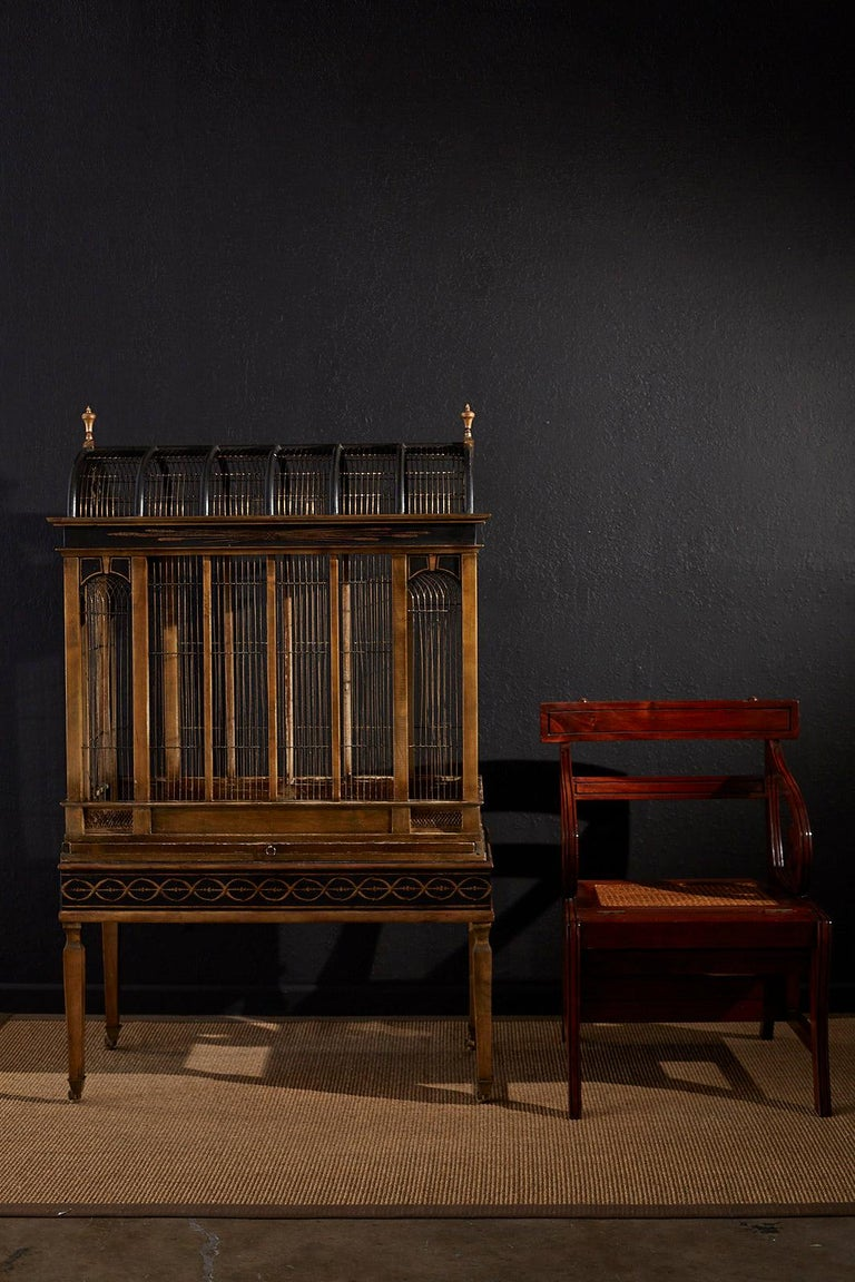 20th Century English Regency Style Mahogany Metamorphic Library Step Chair For Sale
