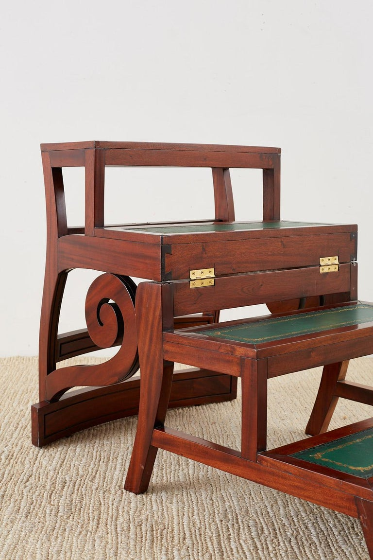 English Regency Style Mahogany Metamorphic Library Step Chair For Sale 2