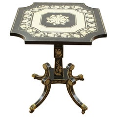 English Regency Style Penwork Side Table