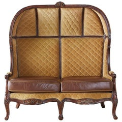 English Regency Style Porter's Settee or Canopy Settee