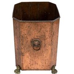 English Regency Style Wastebasket
