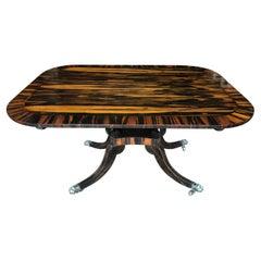 English Regency Tea Table, Calamander Wood