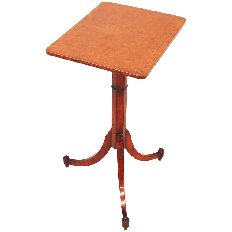 English Regency Thuya Wood Oblong Antique Wine Table For Sale