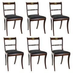 English Regency 'Trafalgar Chairs' with Sabre Legs