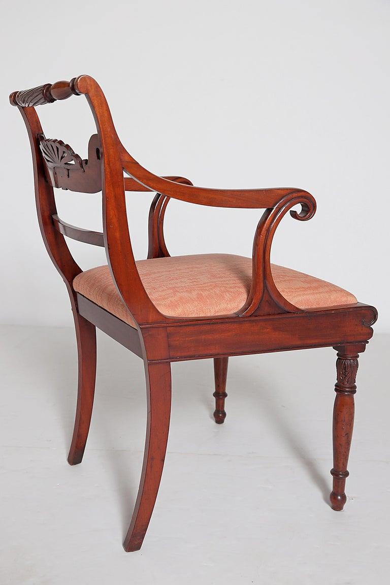 English Regency Trafalgar Dining Chairs / Set of Eight '8' For Sale 6