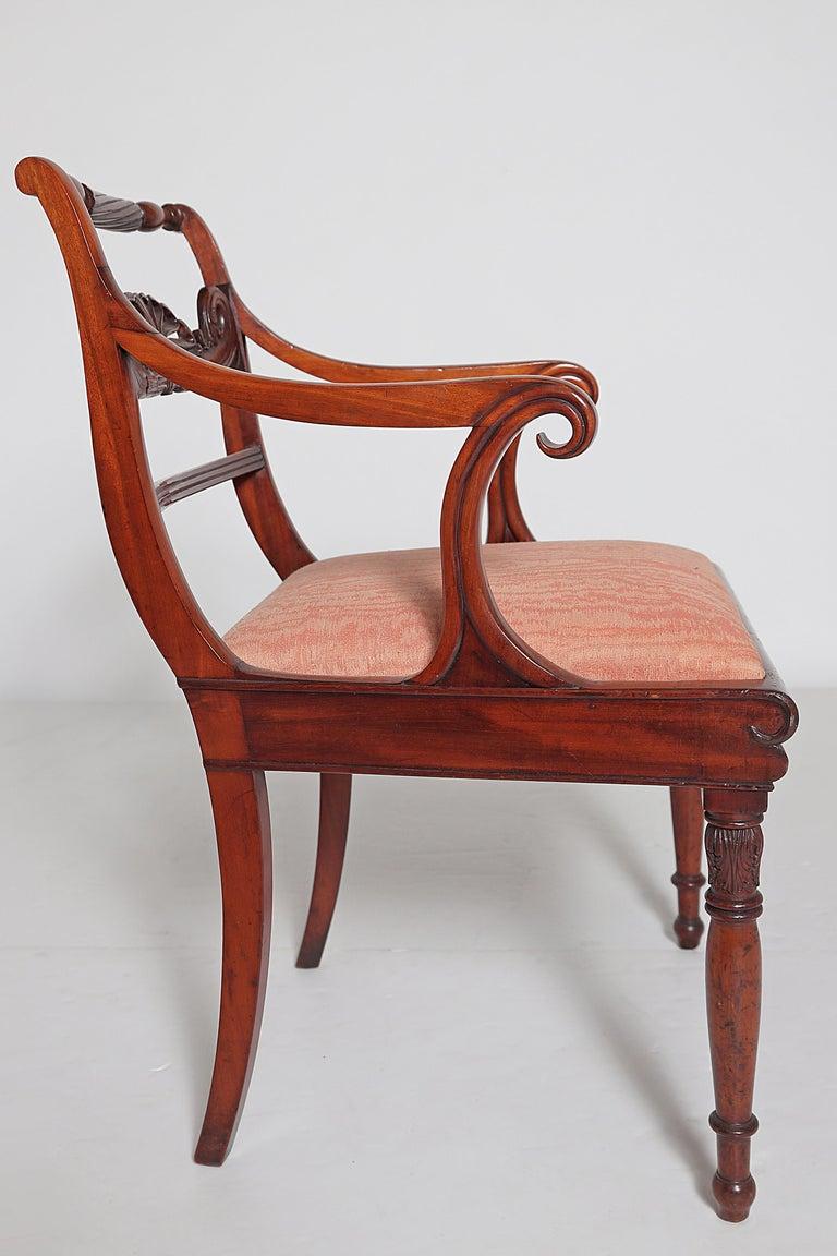 English Regency Trafalgar Dining Chairs / Set of Eight '8' For Sale 8