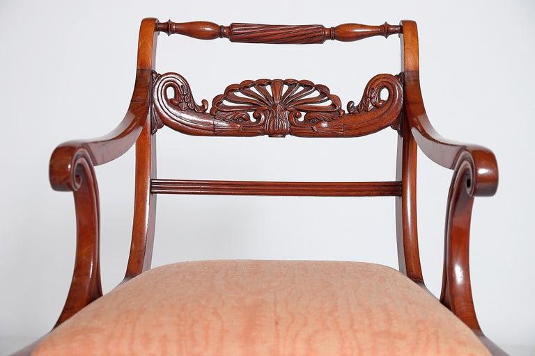 English Regency Trafalgar Dining Chairs / Set of Eight '8' For Sale 10