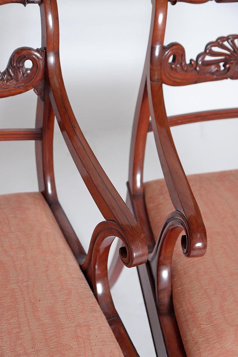 English Regency Trafalgar Dining Chairs / Set of Eight '8' For Sale 1