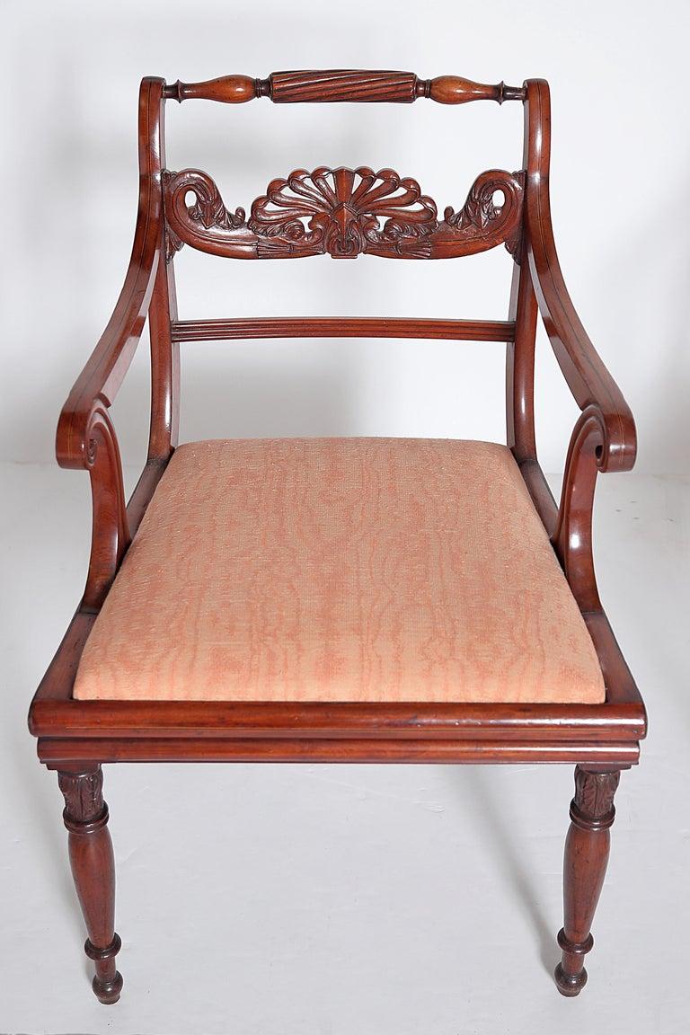 English Regency Trafalgar Dining Chairs / Set of Eight '8' For Sale 2