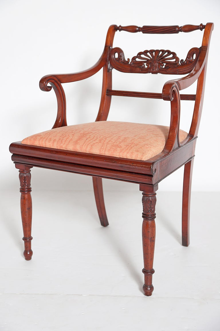 English Regency Trafalgar Dining Chairs / Set of Eight '8' For Sale 3