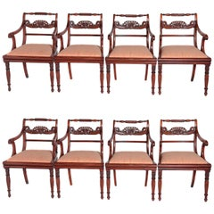 English Regency Trafalgar Dining Chairs / Set of Eight '8'