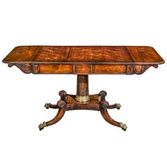 English Regency Two-Drawer Sofa Table or Library Table