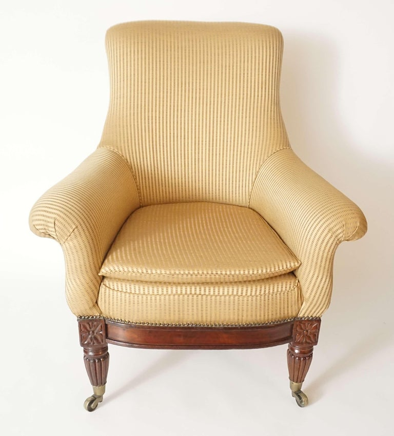English Regency Upholstered Armchair of Large Size, circa 1830 For Sale 4